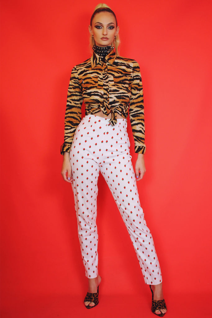 Strawberry Cigarette Trousers