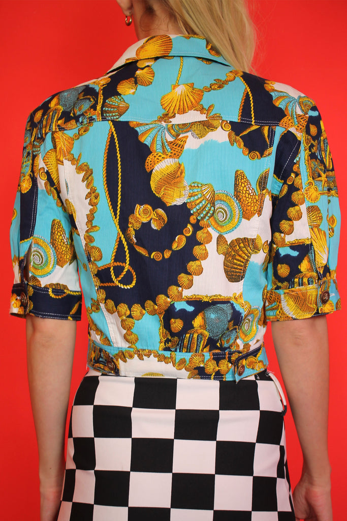Versace-esque Seashell Baroque Cropped Jacket