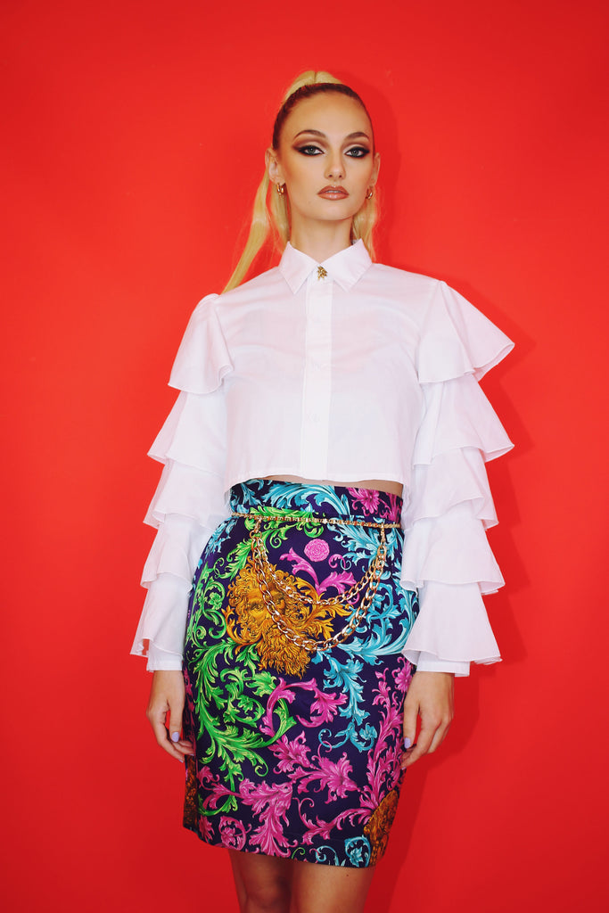 Versace Dupe Baroque Skirt