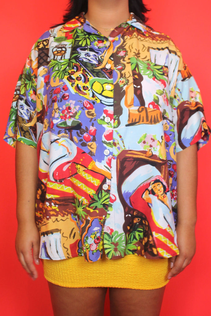 Tropical Colourful Printed Shirt