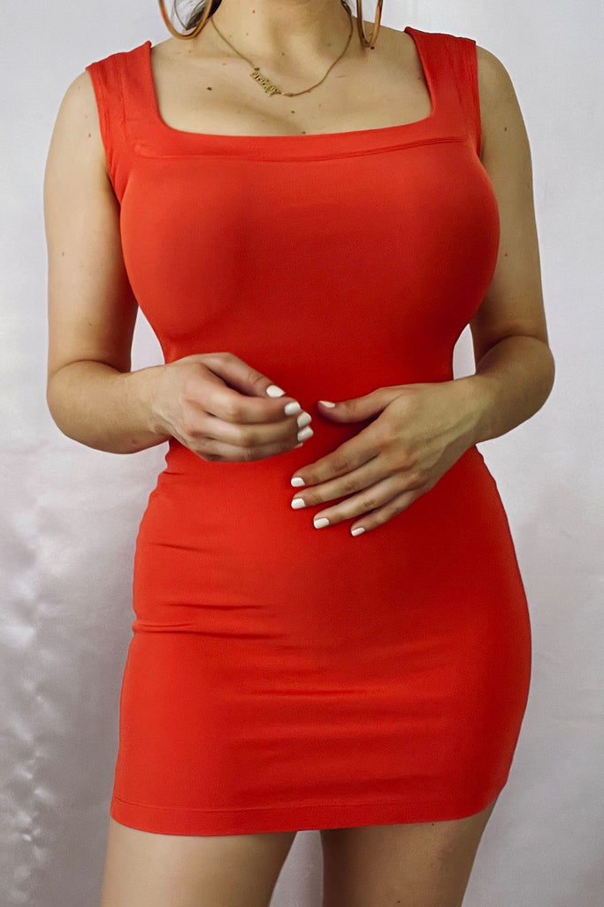Little Red/Orange Mini Bodycon Dress