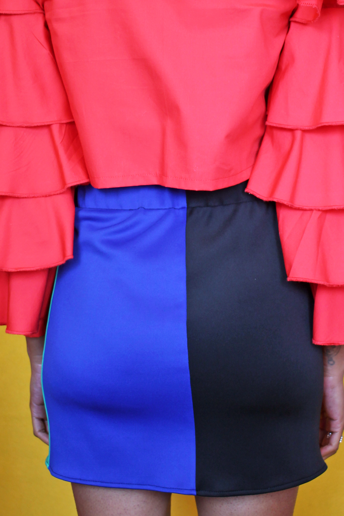 Honey x Sassy World Colour Block Skirt