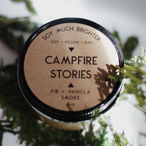 Campfire Stories: Vanilla + Fir + Smoke || 4oz