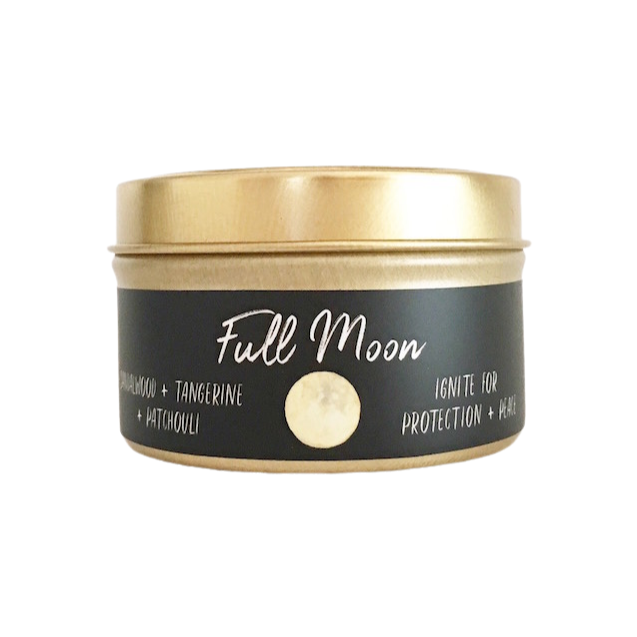 Moon Phase Collection // Full Moon: Sandalwood + Tangerine + Patchouli // Small