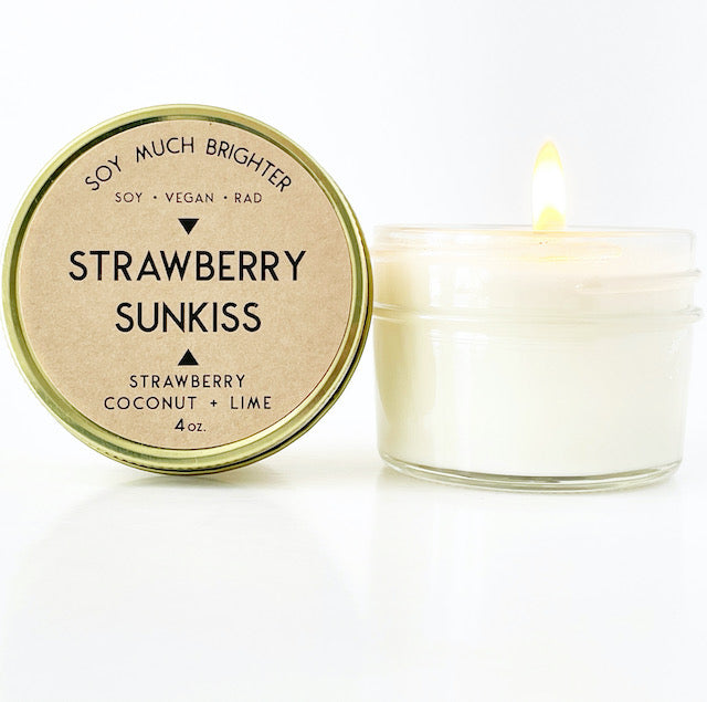 Strawberry Sunkiss: Strawberry + Coconut + Lime || 4oz