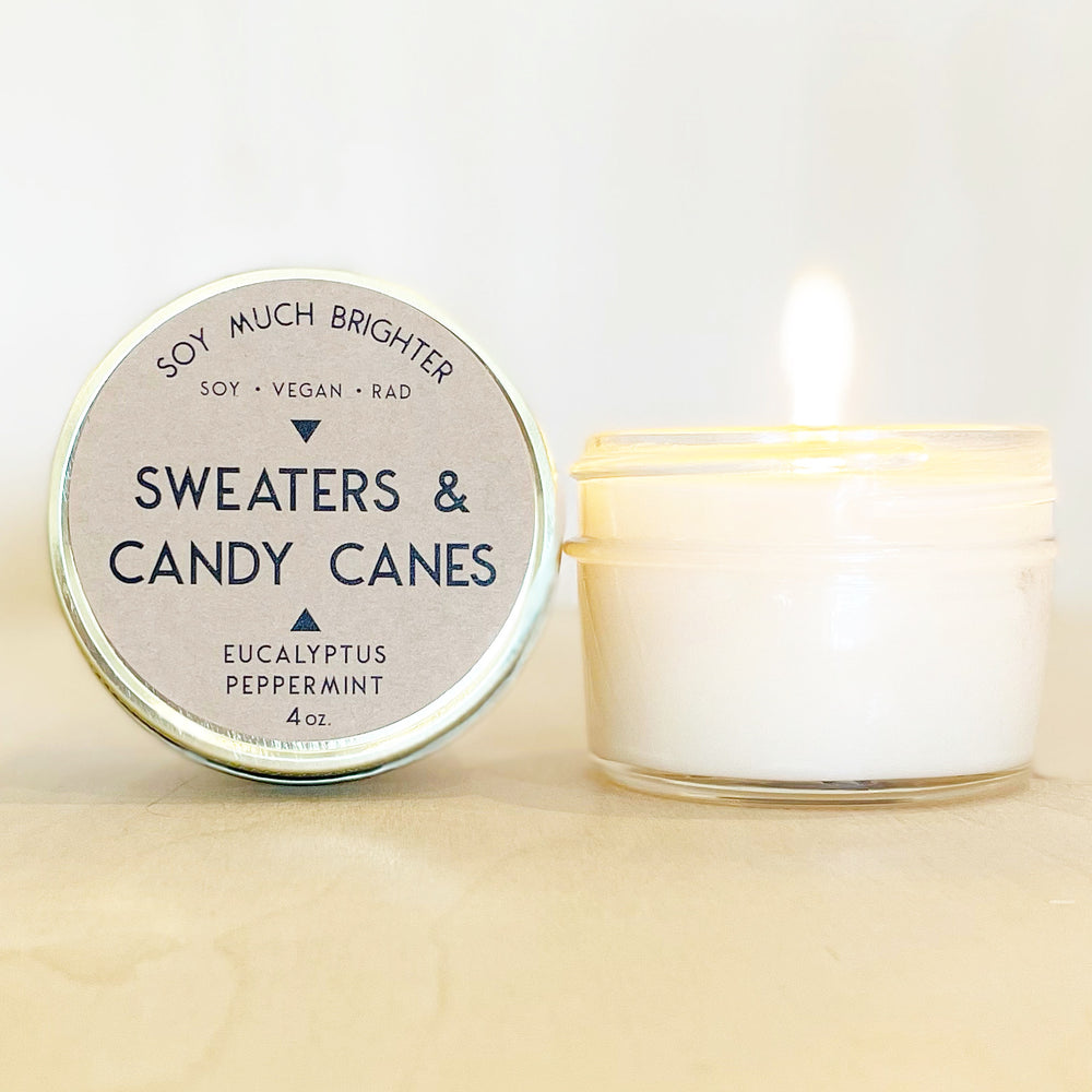 Sweaters & Candy Canes: Peppermint & Eucalyptus || 4oz