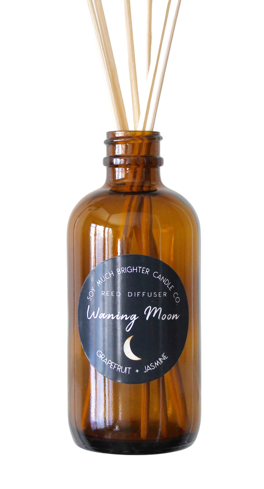 Reed Diffuser: Moon Phase Collection - Waning Moon // Grapefruit + Jasmine