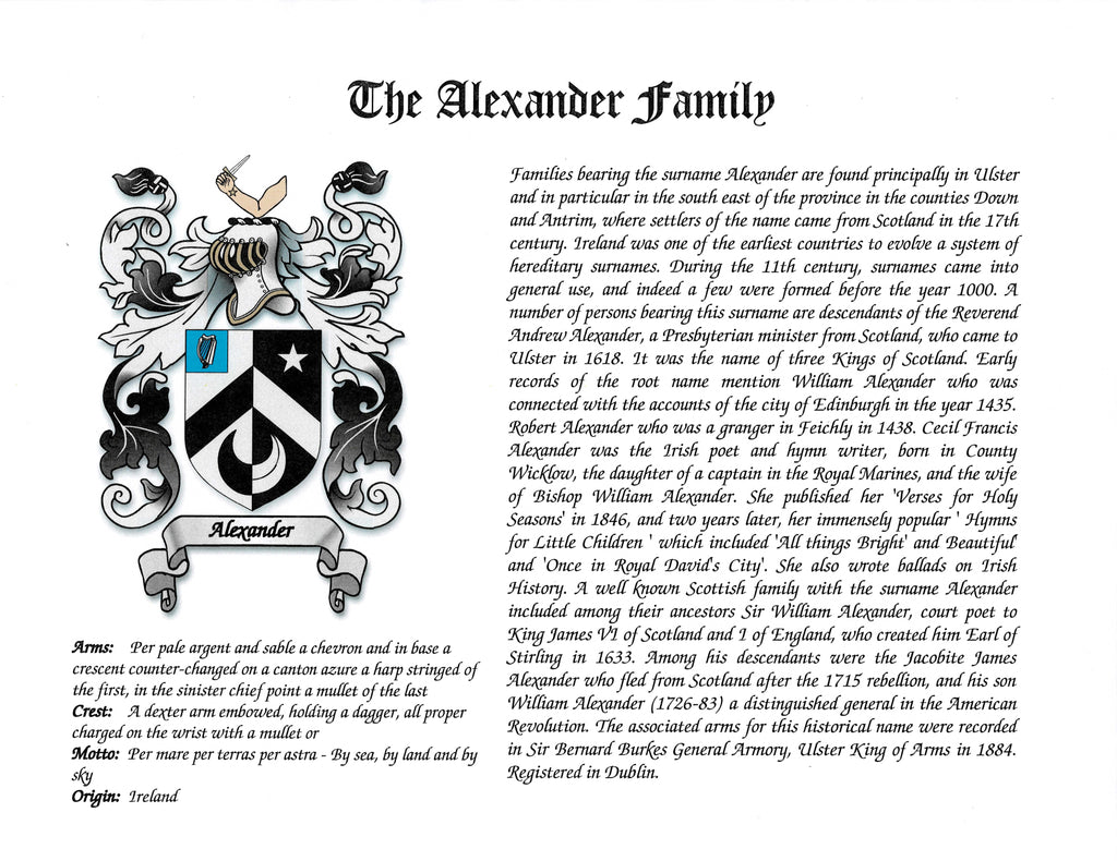 Surname History ~ Last Name Meaning Sign ~ Personalized Coat of Arms ~ Family Name Origin ~ Custom Family Crest Art ~ Genealogy Gifts ~