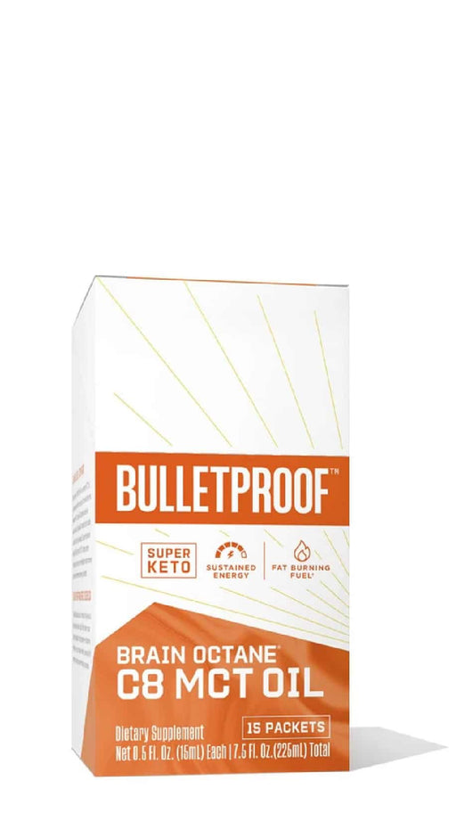 Bulletproof Brain Octane C8 MCT Oil GoPacks