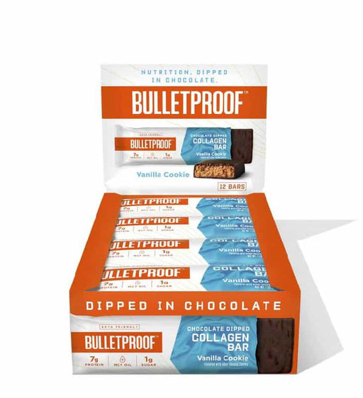 Bulletproof Chocolate Dipped Collagen Bars Vanilla Cookie 1