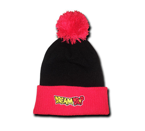DBZ Pom Pom Beanie (Black/Red)