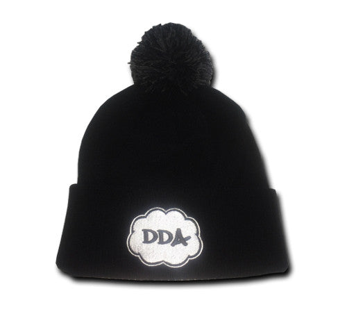Cloud Pom Pom Beanie (Black)