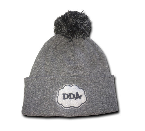 Cloud Pom Pom Beanie (Heather Grey)
