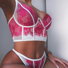 Load image into Gallery viewer, Pink Sexy Lace Brasserie