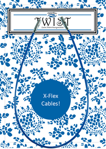 "ChiaoGoo Twist X-Flex Blue 8"" Cable"