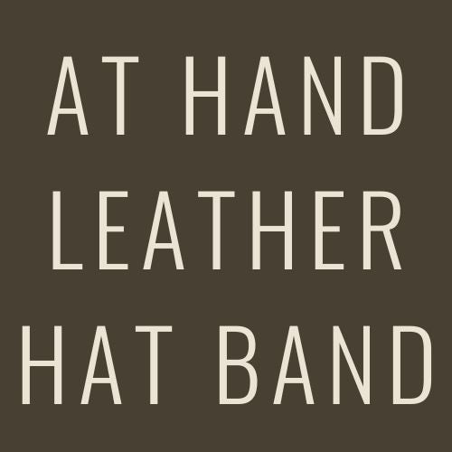 At Hand Leather Hat Band