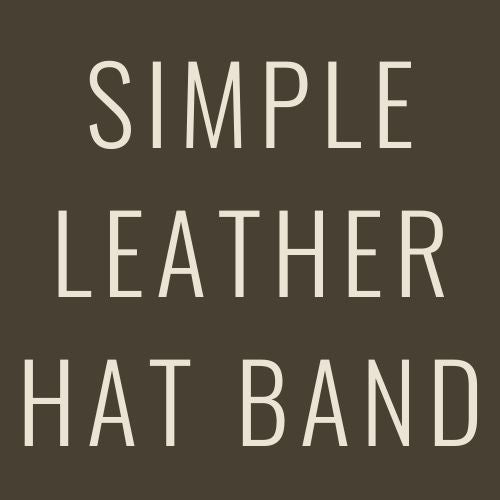 Simple Leather Hat Band