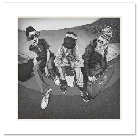 Beastie Boys Matted Art Print