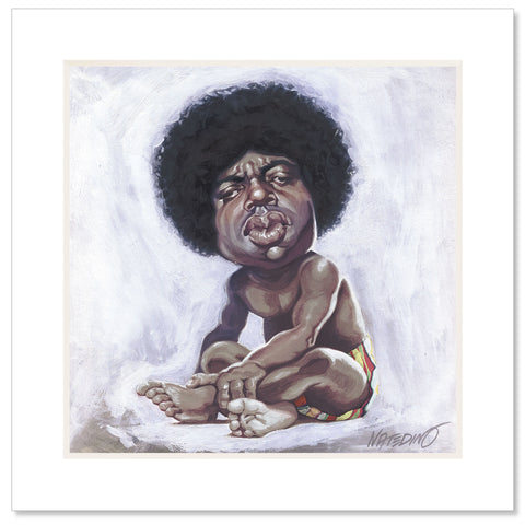 Biggie Matted Art Print