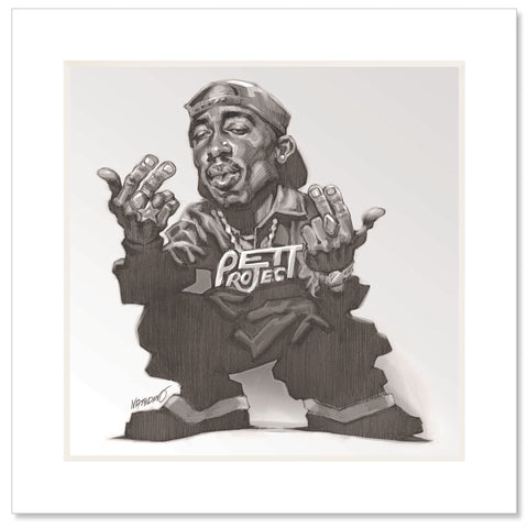 Westside Matted Art Print