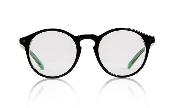 Sons + Daughters Eyewear Childrens Fashion Kids Optical Clark Black Green Clear Layer