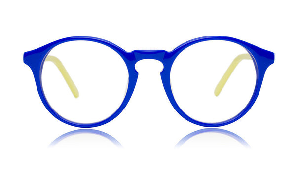 Sons + Daughters Eyewear Childrens Fashion Kids Optical Clark Blue Neon Yellow