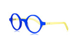 Sons + Daughters Eyewear Childrens Fashion Kids Optical Harry Blue Neon Yellow