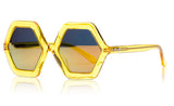 Sons + Daughters Eyewear Childrens Fashion Kids Sunglasses Honey Yellow Jelly Mirror