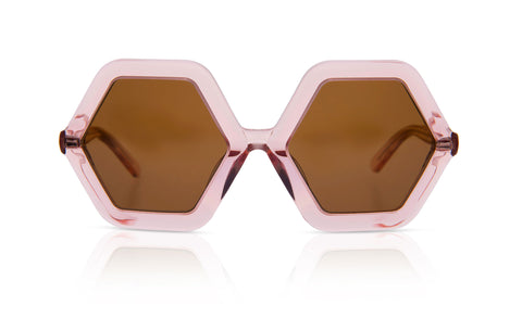 Sons + Daughters Eyewear Childrens Fashion Kids Sunglasses Honey Bio Transparent Rose