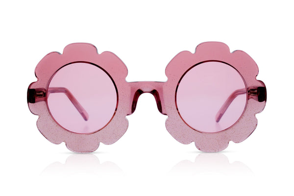 Sons + Daughters Eyewear Childrens Fashion Kids Sunglasses Pixie LC Pink Glitter