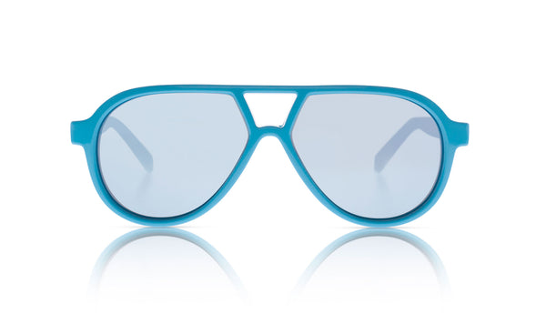 Sons + Daughters Eyewear Childrens Fashion Kids Sunglasses Rocky ii Cyan Blue