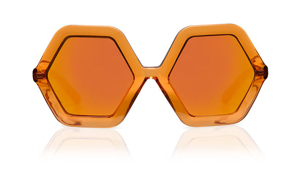 Sons + Daughters Eyewear Childrens Fashion Kids Sunglasses Honey Orange Jelly