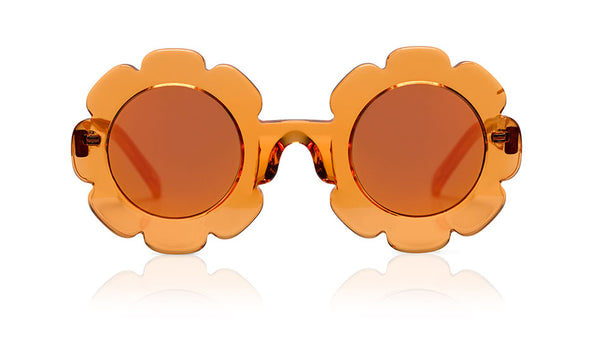 Sons + Daughters Eyewear Childrens Fashion Kids Sunglasses Pixie Orange Jelly