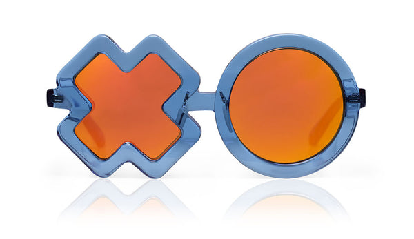 Sons + Daughters Eyewear Childrens Fashion Kids Sunglasses XO Blue Jelly