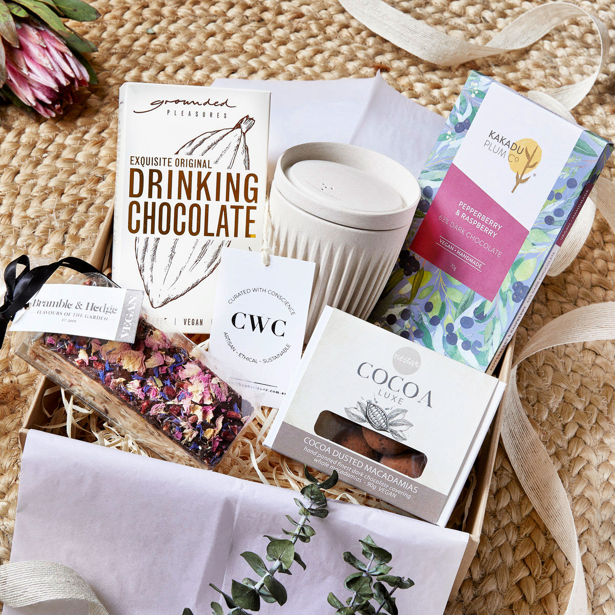 Handmade vegan chocolate hamper Australia
