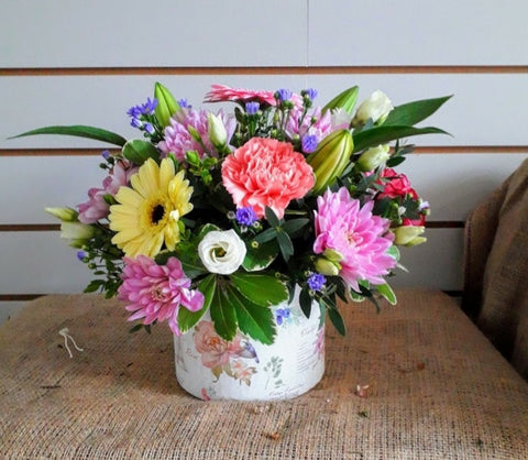 Flower Hat Box Arrangement