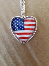 Load image into Gallery viewer, Heart Shape Flag Necklace