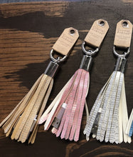 Load image into Gallery viewer, Tassel USB Phone Charger on a Key Ring