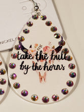 Load image into Gallery viewer, Rhinestone Teardrop Dangle Earrings - Take the Bull By the Horns
