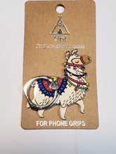 Load image into Gallery viewer, Adhesive Phone Charm Grip - Festive Llama