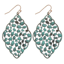 Load image into Gallery viewer, Moroccan Styled Filigree Dangle Earrings