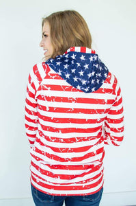 America The Beautiful Women's Double Hooded Sweatshirt