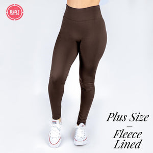 New Mix Smooth Leggings - Fleece Lined - One Size Plus Sizing