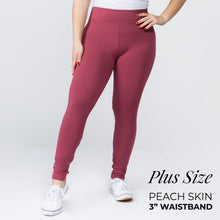 "Load image into Gallery viewer, Plus Size Buttery Soft Peachskin Leggings - 3"" Waistband"