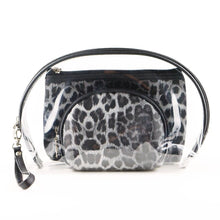 Load image into Gallery viewer, Leopard Print - 3 Piece Cosmetic Bag Sets