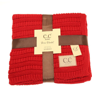 BABY C.C SOLID RIBBED KNIT BLANKET (Pre-order on Nov.10th)