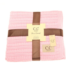 Load image into Gallery viewer, BABY C.C SOLID RIBBED KNIT BLANKET (Pre-order on Nov.10th)