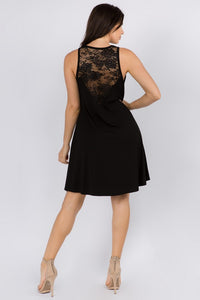 Women's Lace-Trim Sleeveless Dress