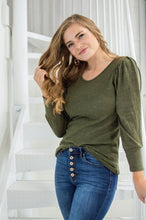 Load image into Gallery viewer, Date Night Top | Spring Olive