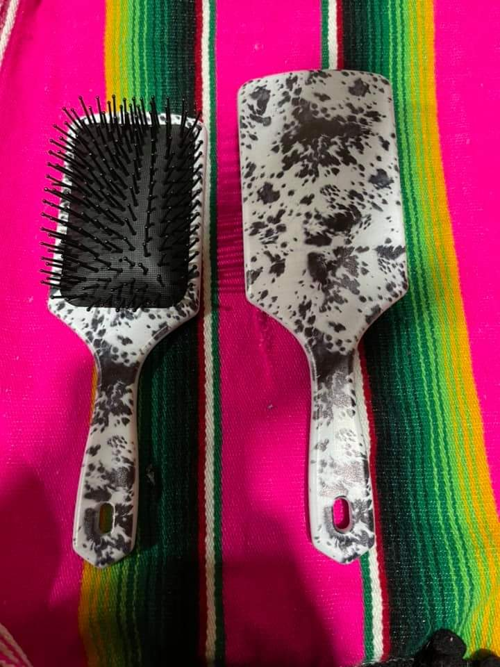 Western Printed Paddle Hairbrushes